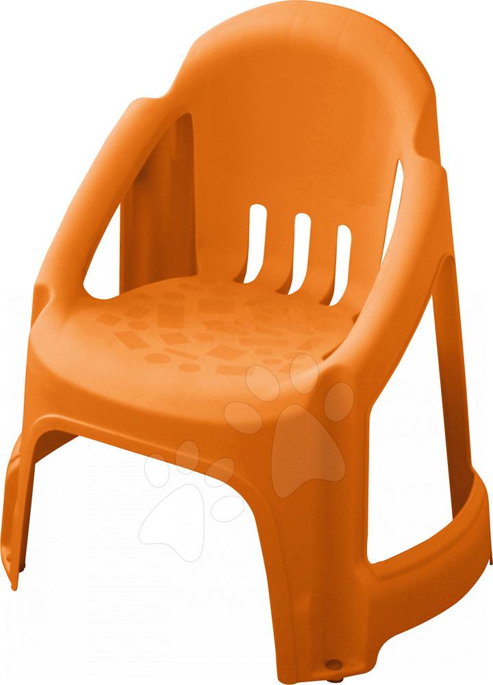 Židle PalPlay s plnou opěrkou oranžová