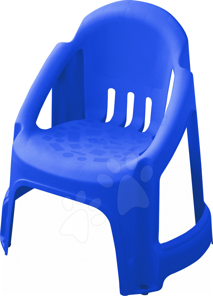 Stolička PalPlay s plnou opierkou modrá
