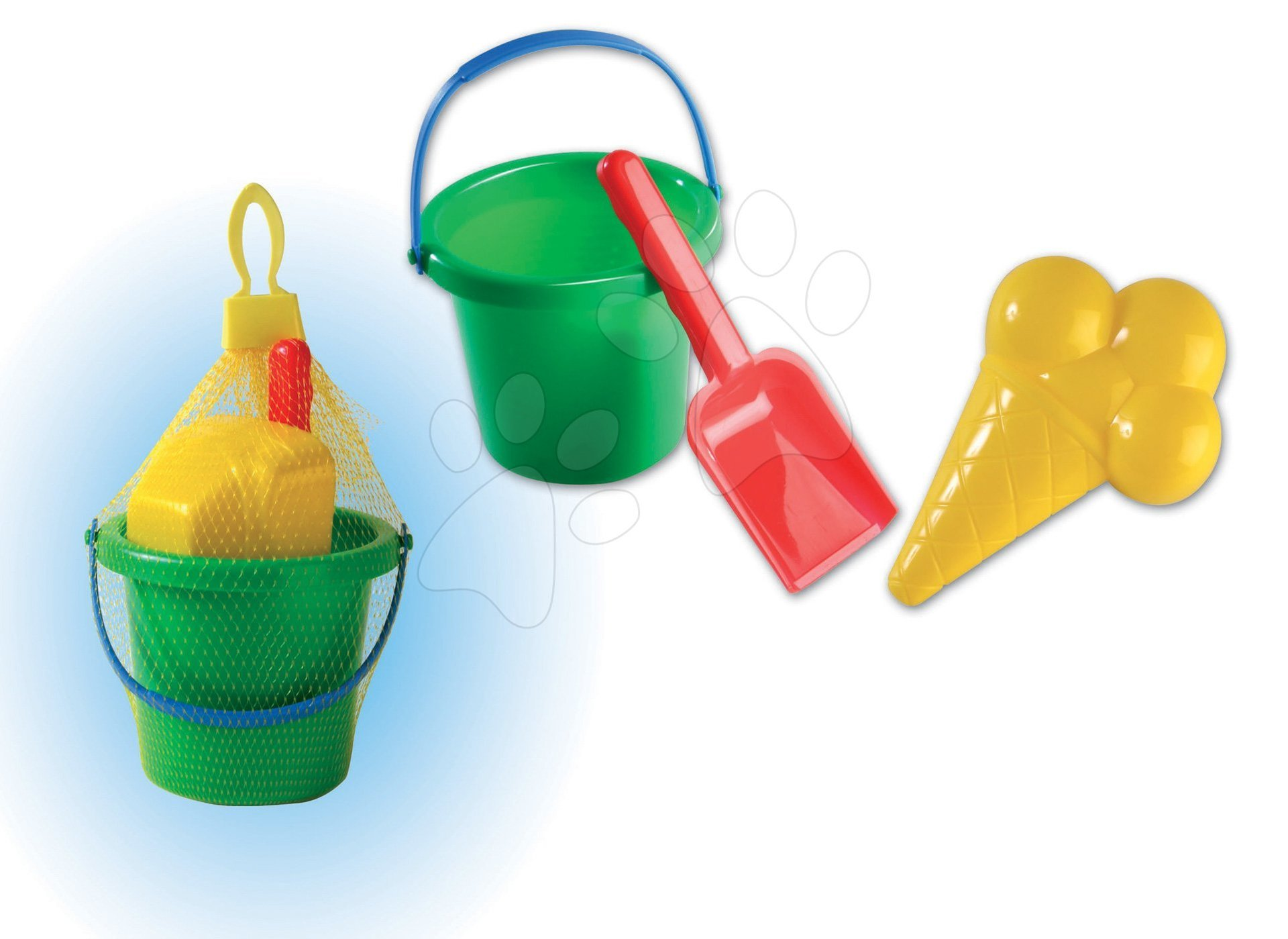 Kbelíky do písku - Mini kbelík set Dohány zelený mini 3 díly