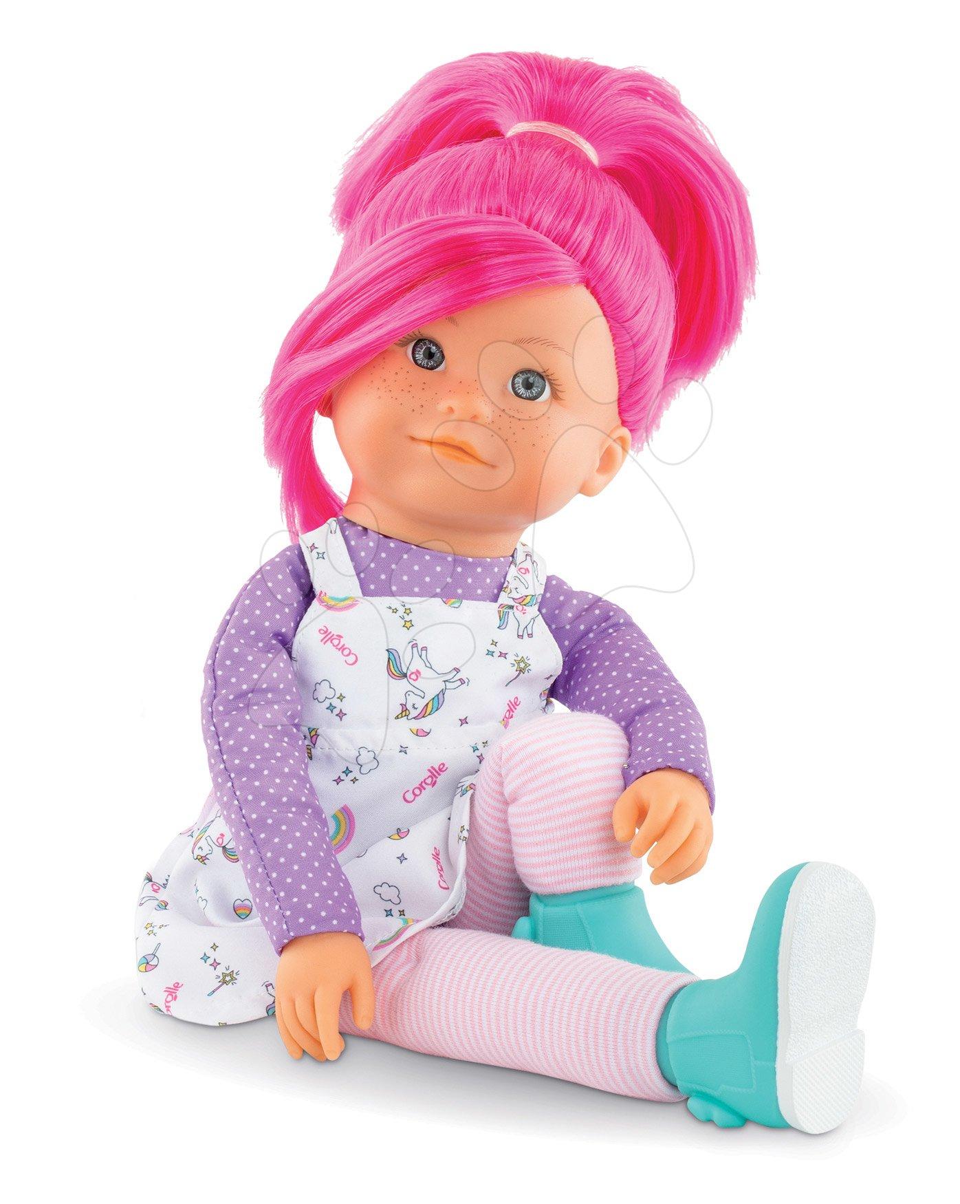 Bábika Nephelie Rainbow Dolls Corolle s hodvábnymi vlasmi a vanilkou ružová 38 cm od 3 rokov