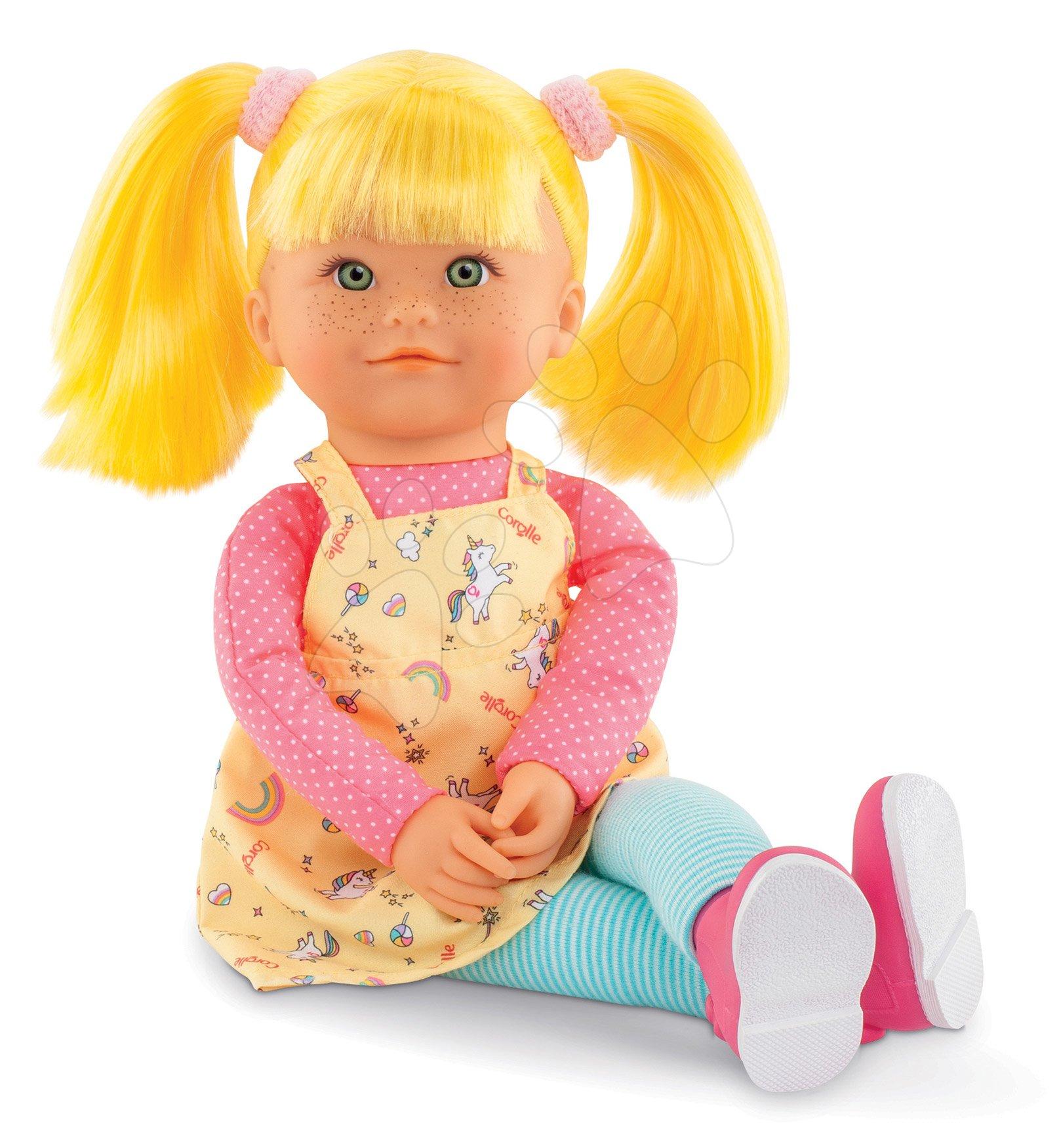 Bábika Celeste Rainbow Dolls Corolle s hodvábnymi vlasmi a vanilkou žltá 38 cm od 3 rokov