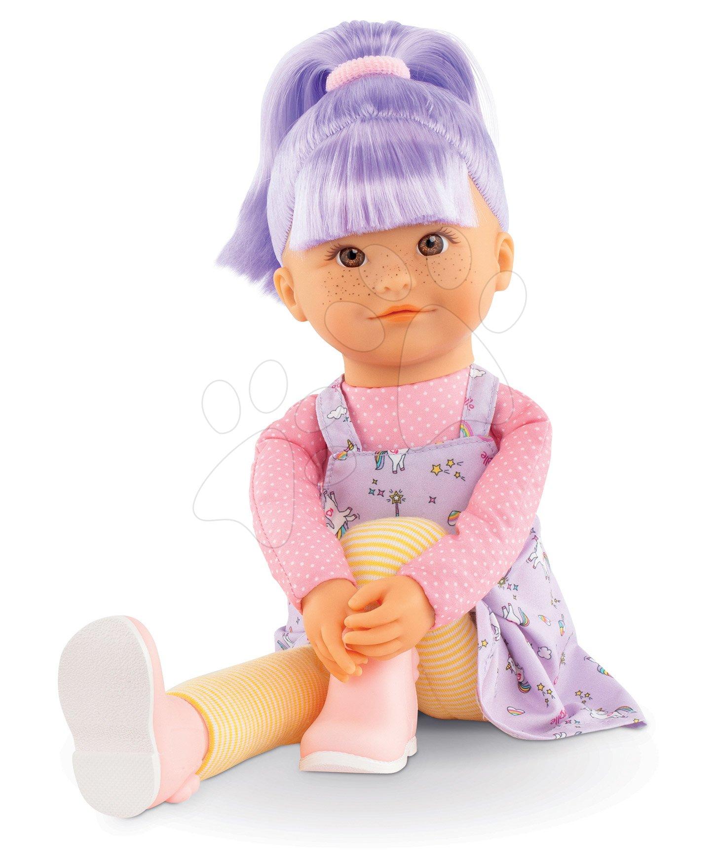 Bábika Iris Rainbow Dolls Corolle s hodvábnymi vlasmi a vanilkou fialová 38 cm od 3 rokov