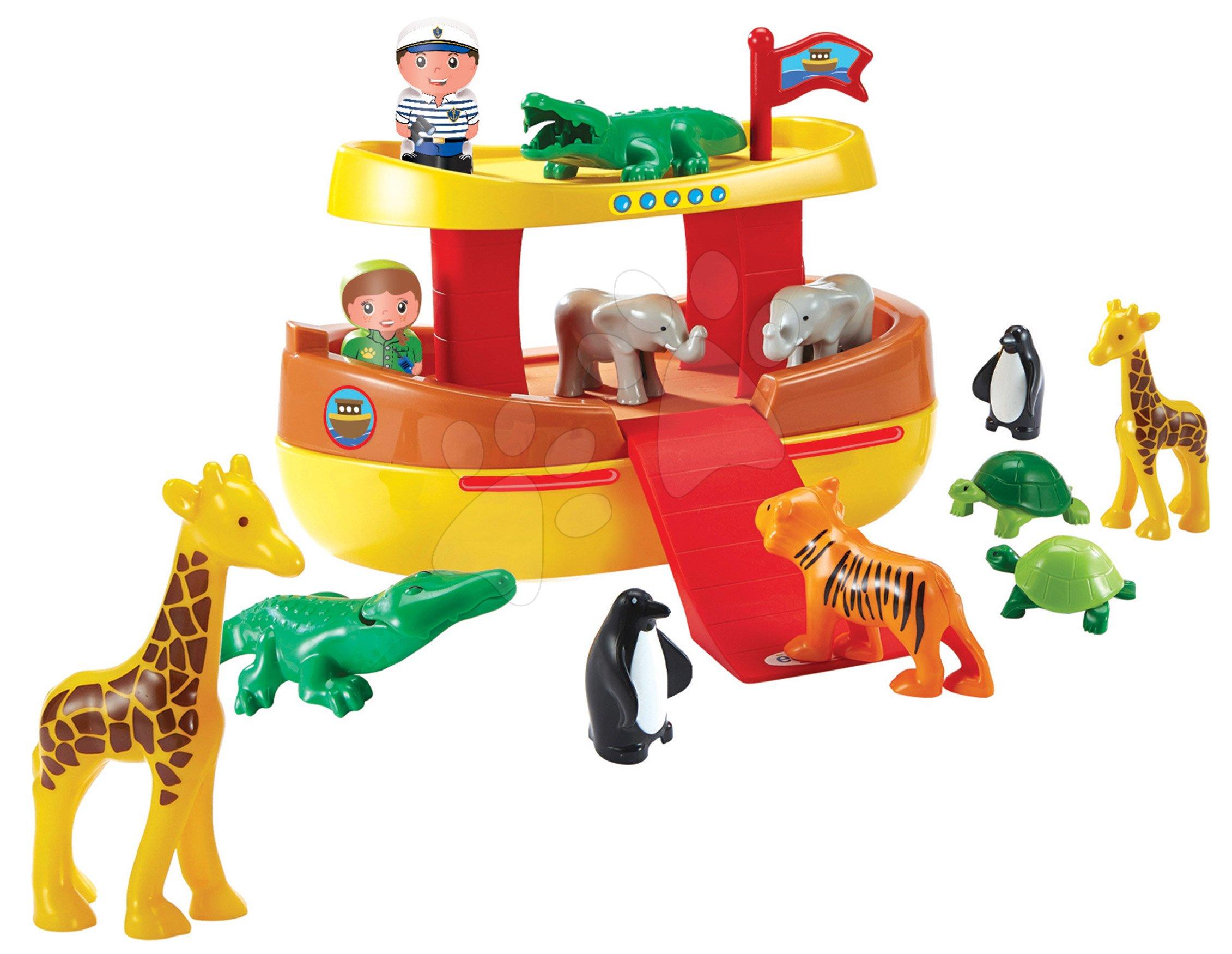 Abrick építőkockák - Építőjáték Abrick Noé bárkája Écoiffier 12 állatkával és 2 figurával 18 hó-tól