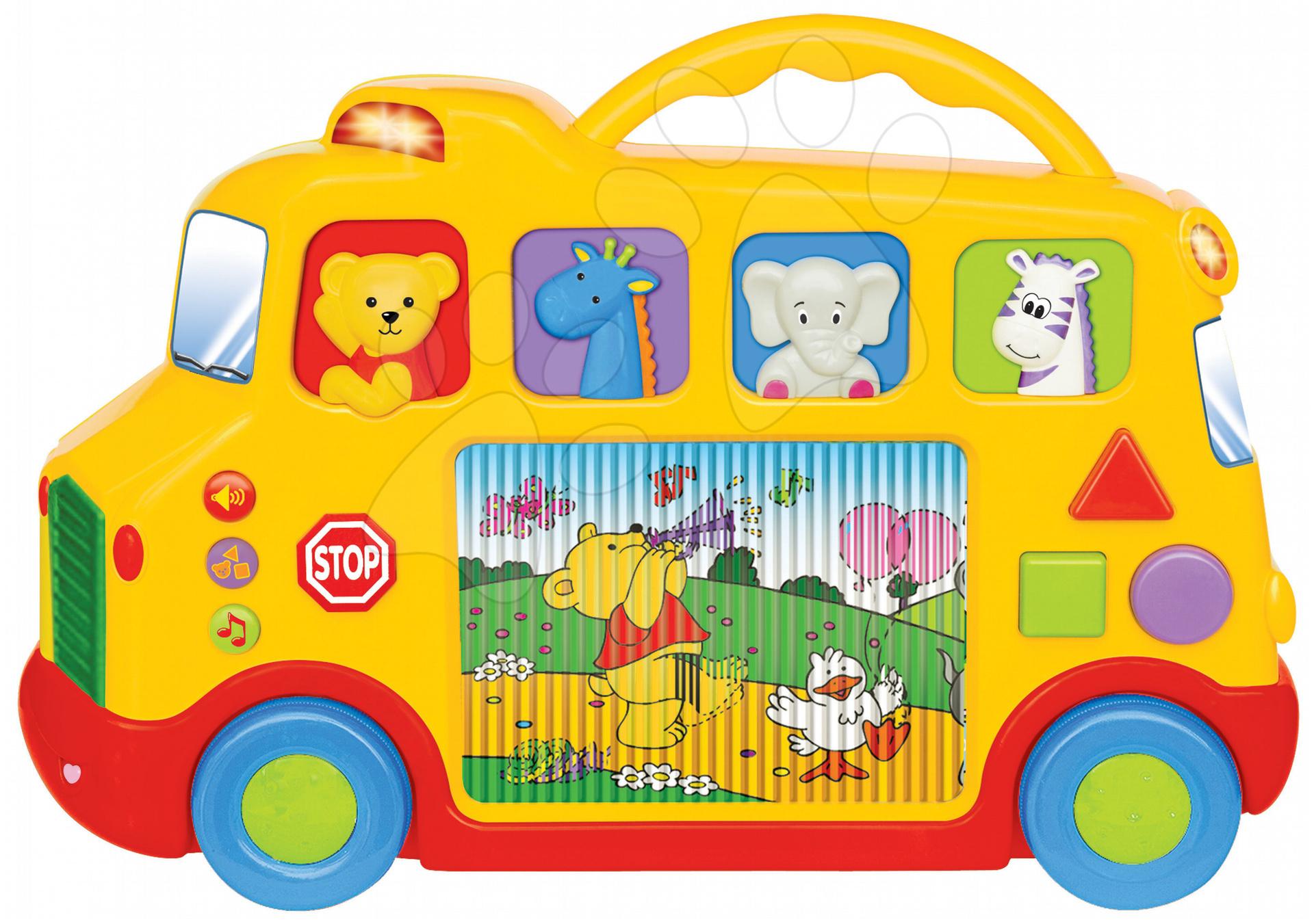 Régi termékek - Játék autóbusz Activity televízióval zenélő és világító Kiddieland 12 hó-tól