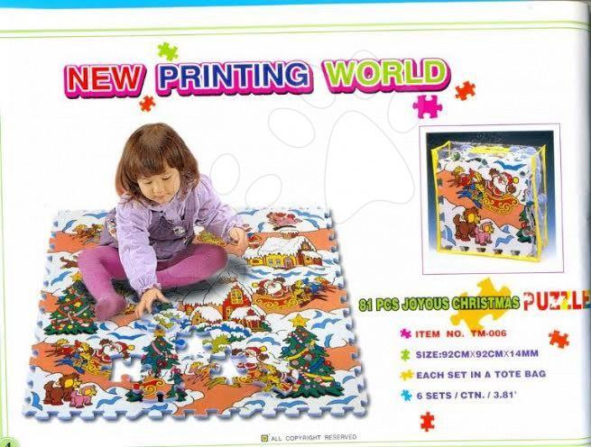 Pěnové puzzle Vánoce Lee Chyun 81 dílů
