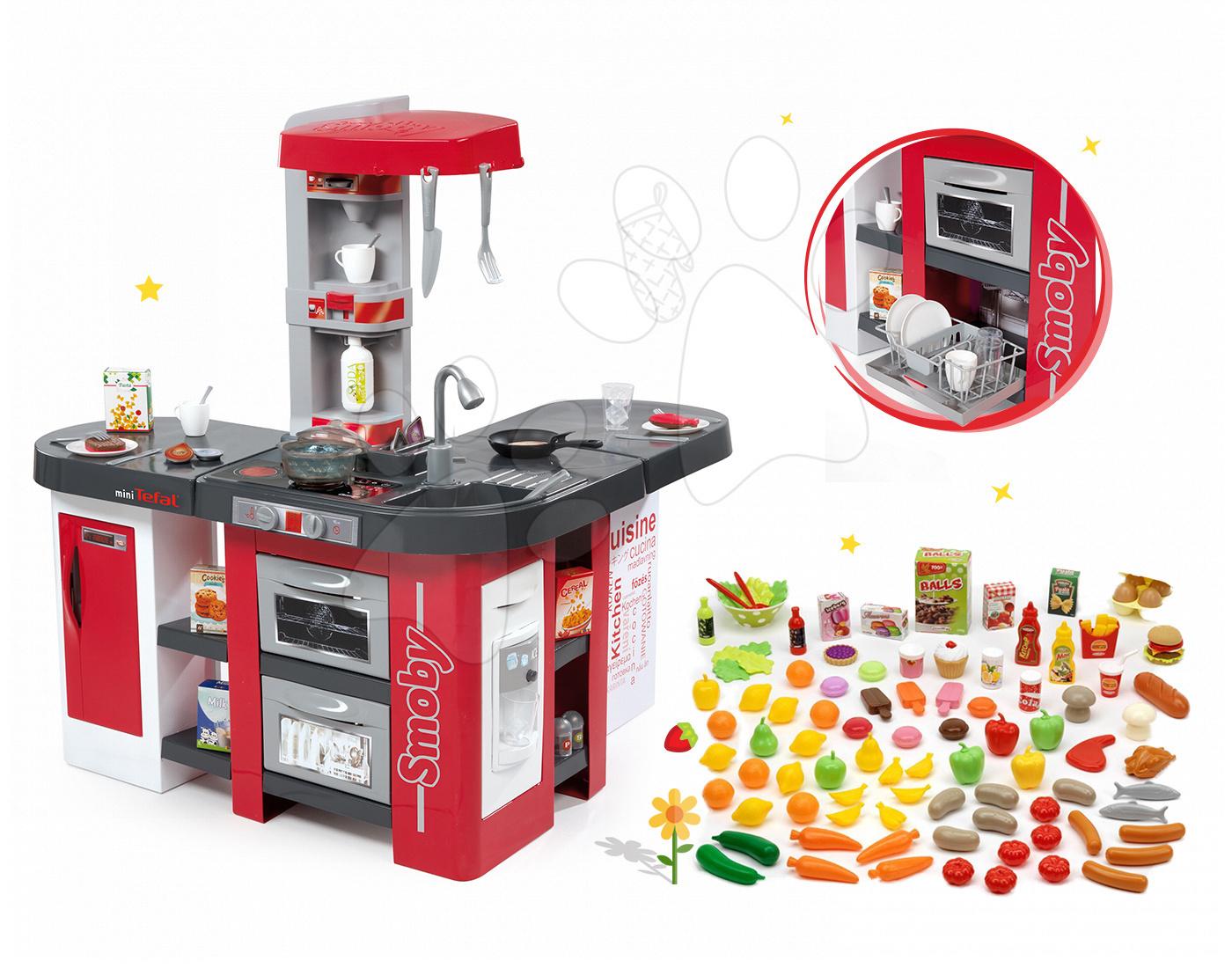 Set kuchyňka Tefal Studio XXL Smoby s magickým bubláním, potraviny do kuchyňky 100% Chef