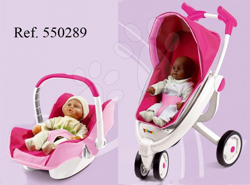 Ružový kočík Maxi-Cosi & Quinny 2v1 pre bábiku Smoby