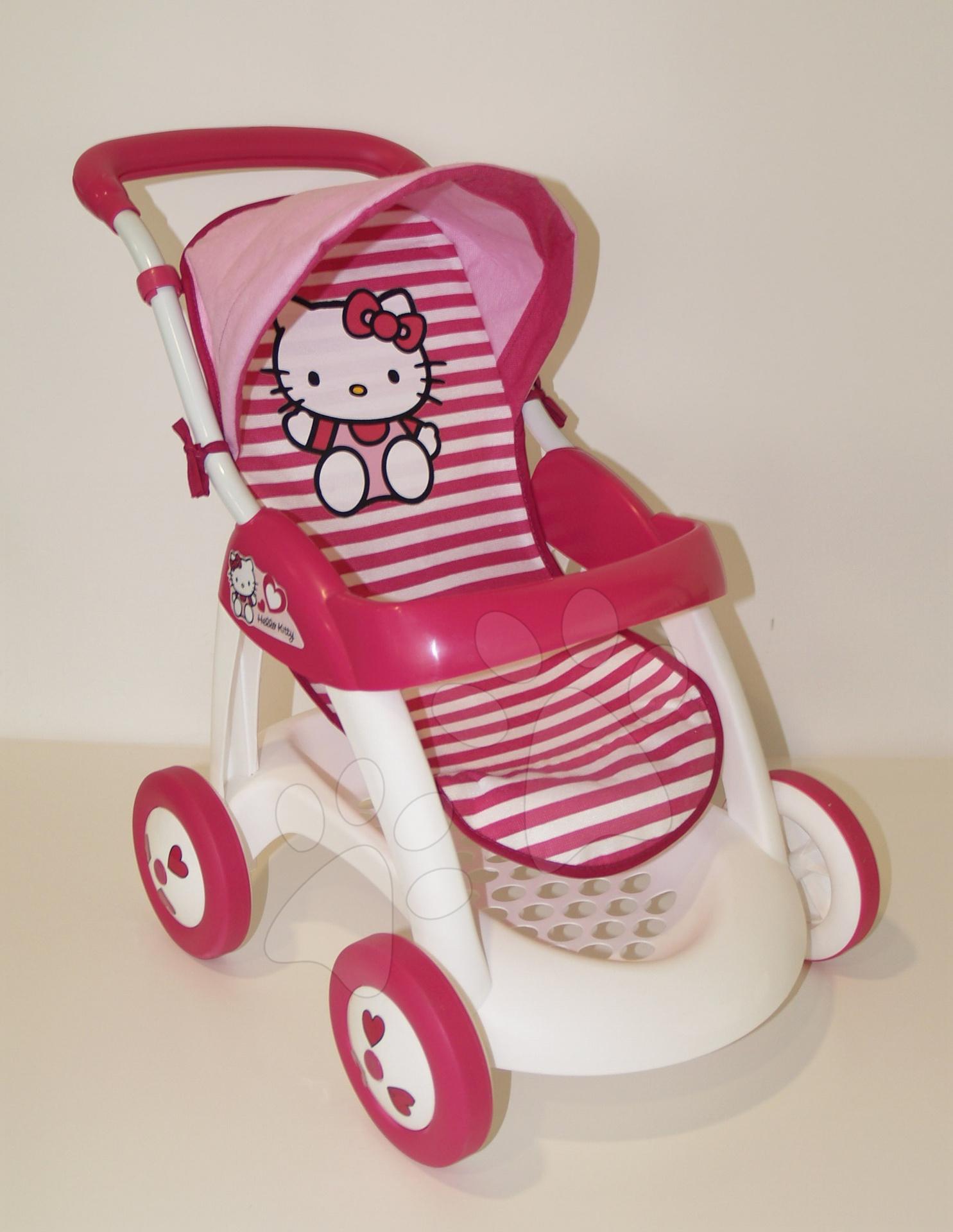 Hello Kitty kočík Chuli pop car Smoby pásiky výška rúčky 60 cm od 18 mes