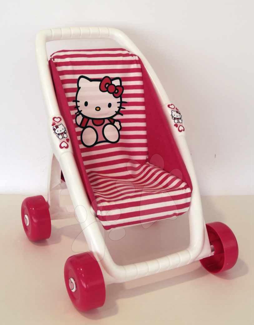 Kočík Hello Kitty Ma Premier pre bábiku Smoby bugina tmavoružový (49 cm rúčka)