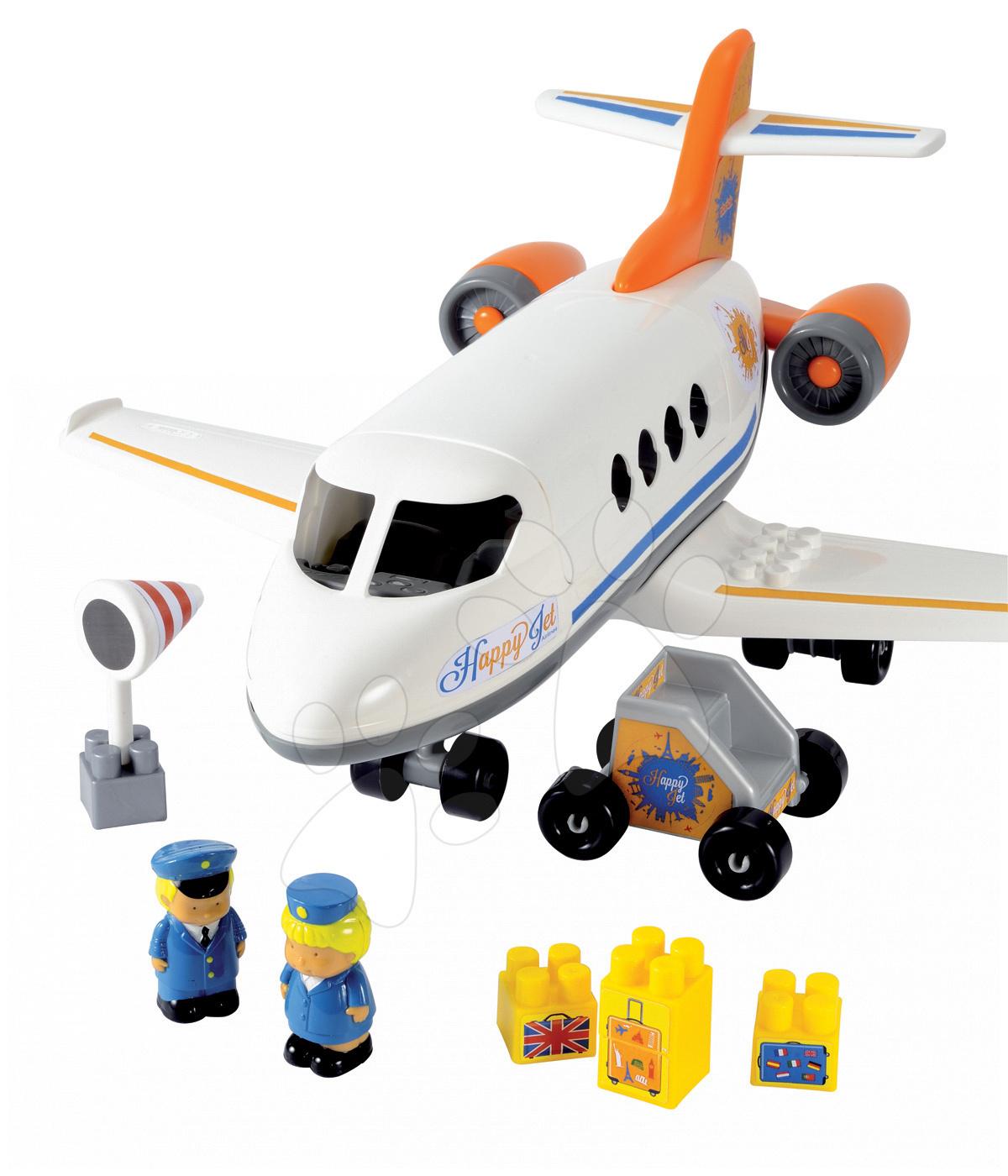 Stavebnice Abrick - Stavebnica lietadlo Abrick Écoiffier s 2 figúrkami od 18 mes