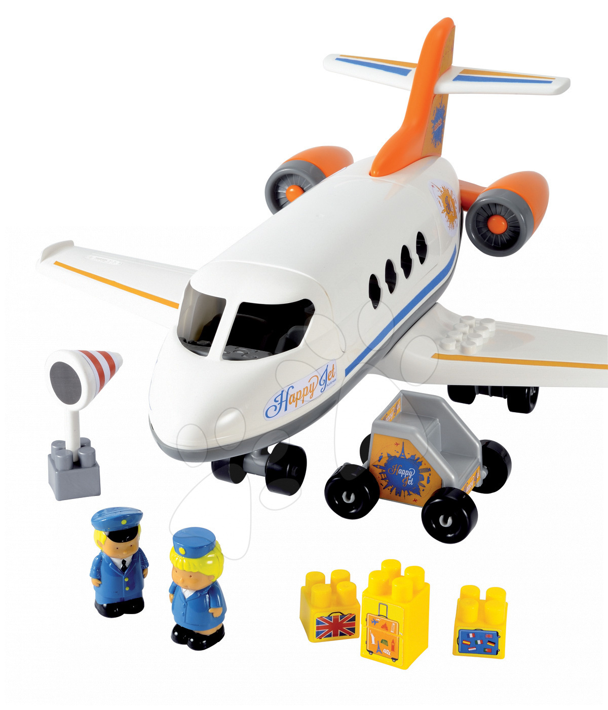 Stavebnica lietadlo Abrick Écoiffier s 2 figúrkami od 18 mes