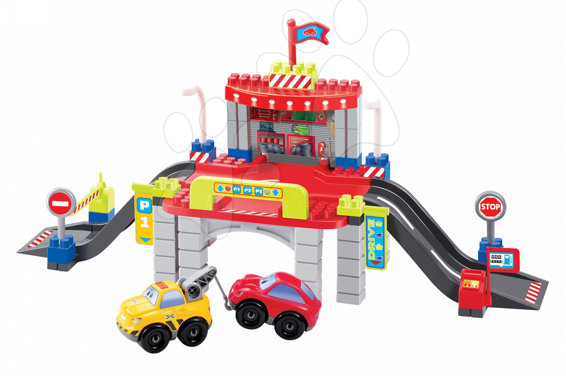 Stavebnice City 1 - parkovací dům Abrick Écoiffier s 2 auty od 18 měsíců