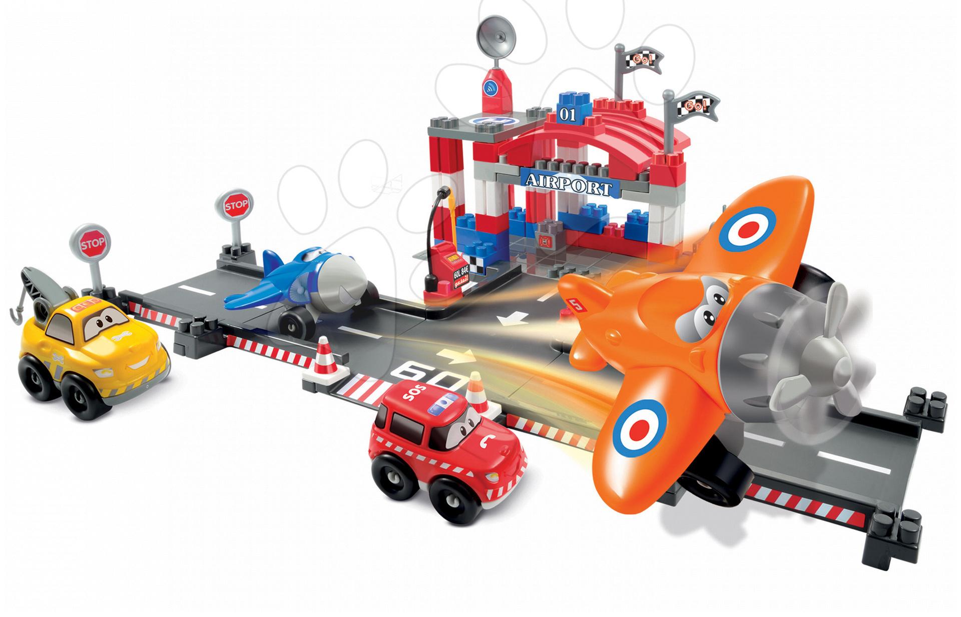 Stavebnice Abrick - Stavebnica Abrick - letisko Écoiffier s 2 autami a 2 lietadlami 87 dielov od 18 mes