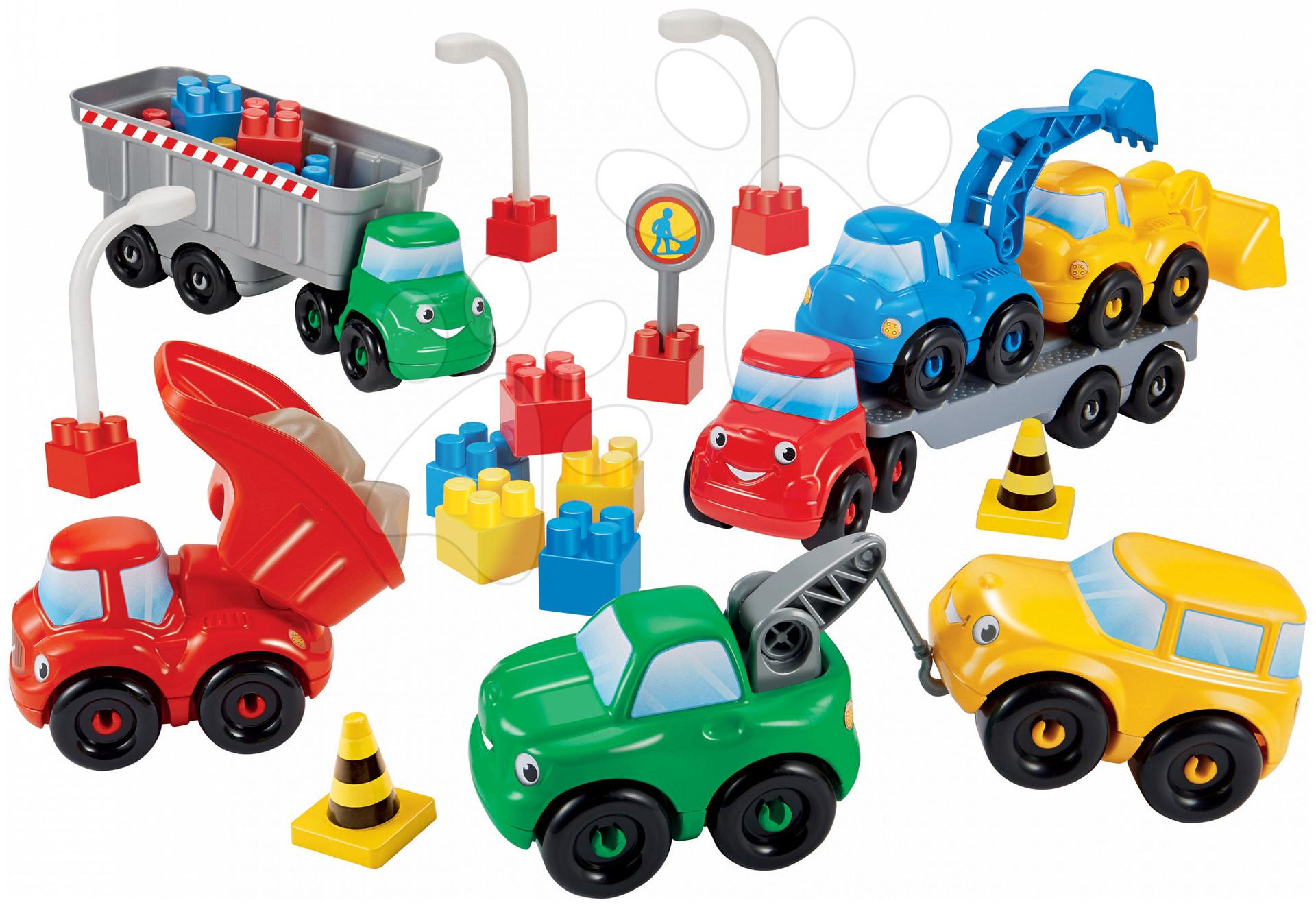 Stavebnice Abrick Stavební a nákladní auta Écoiffier 7 autíček od 18 měsíců