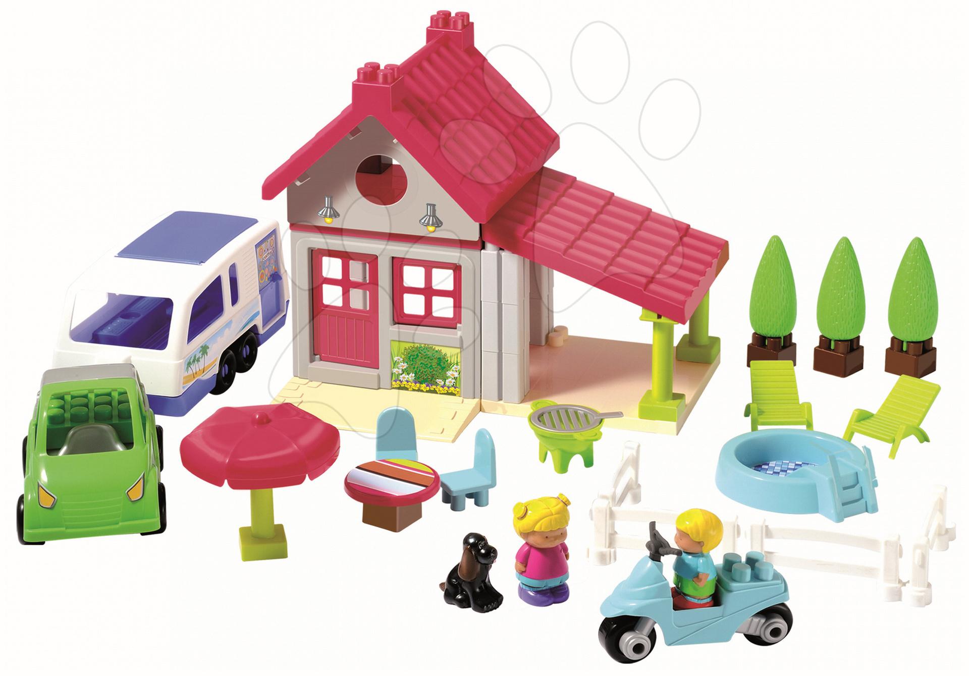 Stavebnice Abrick - prázdninový domek Écoiffier 70 dílů od 18 měsíců