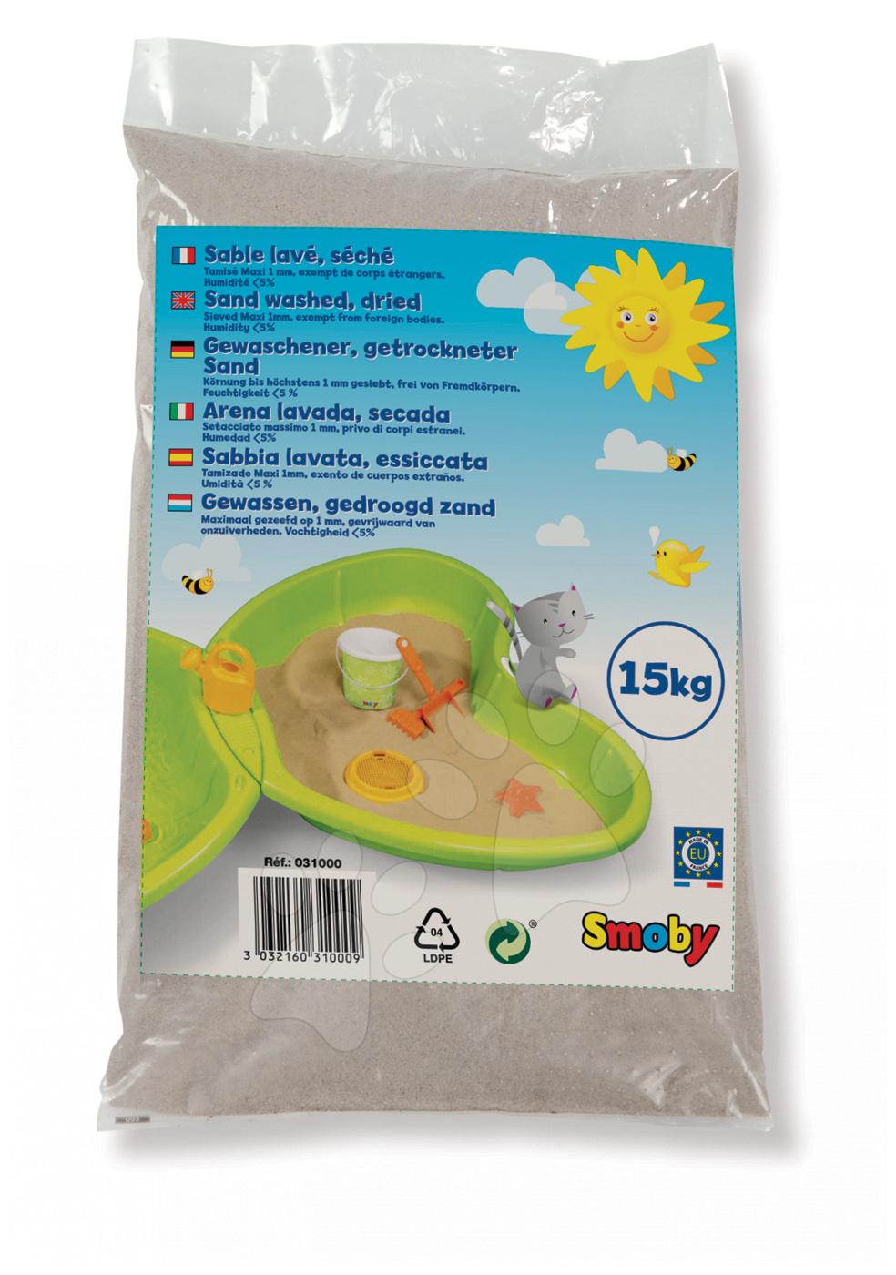 Hygienický písek Smoby do pískoviště 15 kg od 24 měsíců