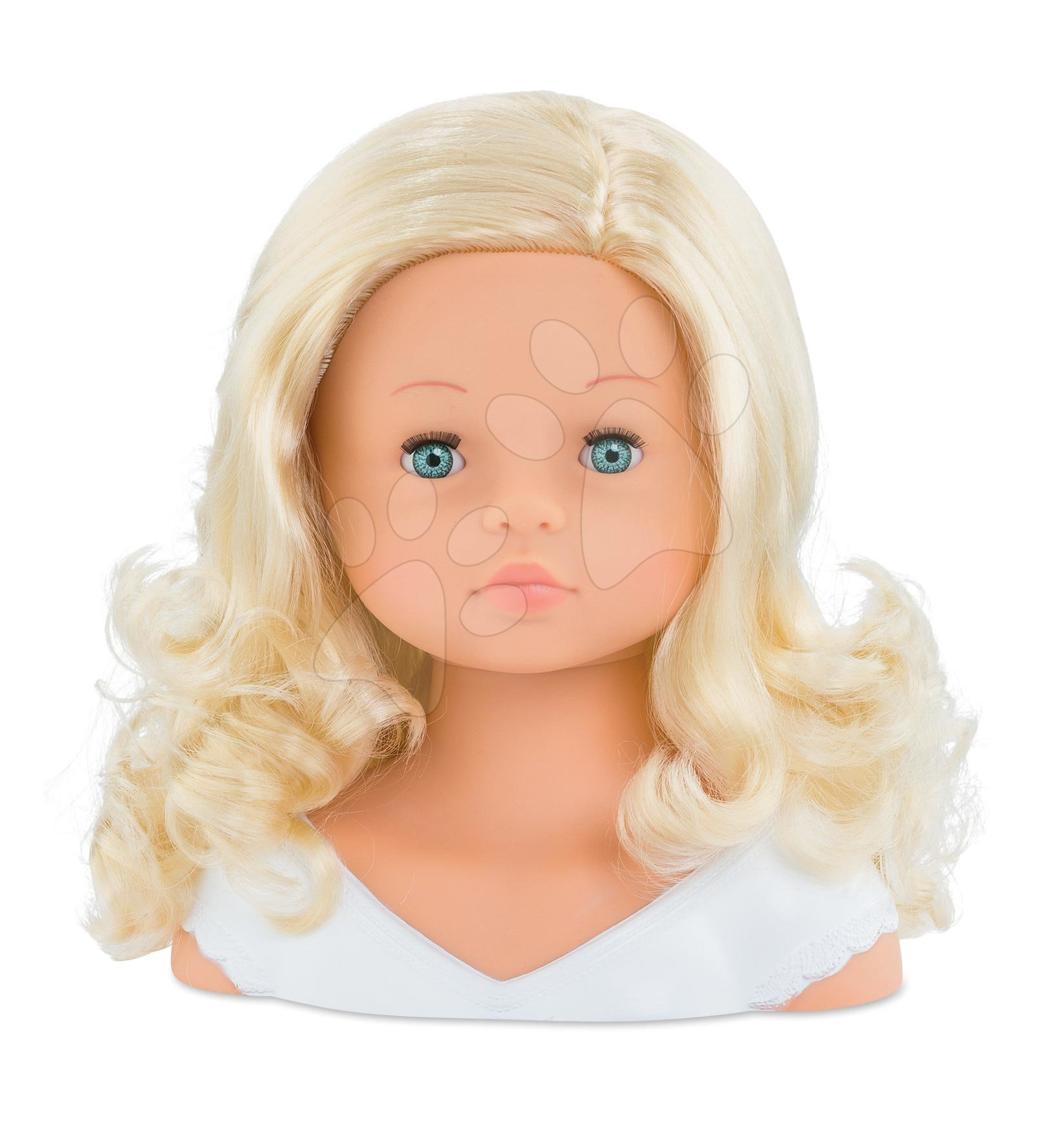 Kadeřnická česací hlava Hairdressing Head Corolle s krásně jemnými voňavými vlásky a 20 doplňky od 3 let