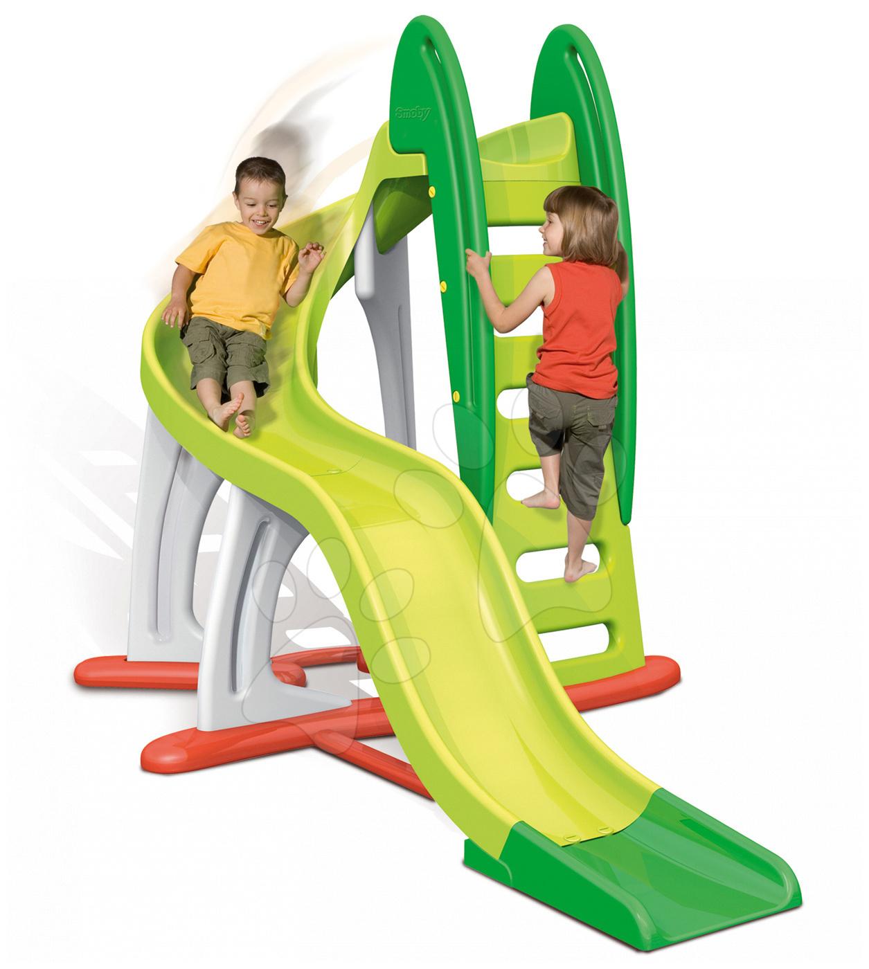 Tobogani za otroke - Tobogan U'Turn Smoby dolžina 3,8 m zelen