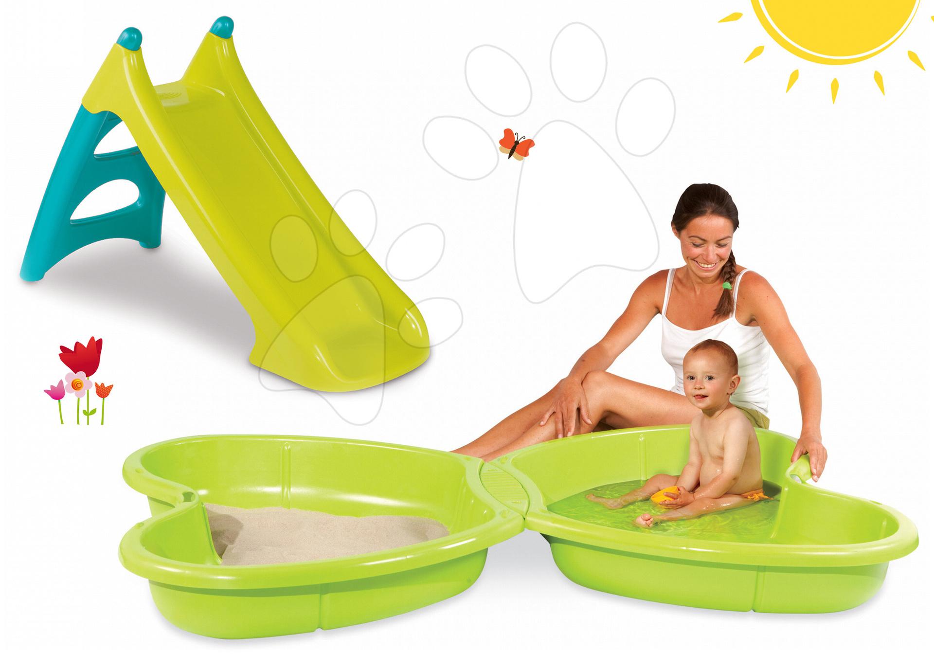 Smoby pieskovisko pre deti Motýľ a šmykľavka Toboggan 310143-4 zelené