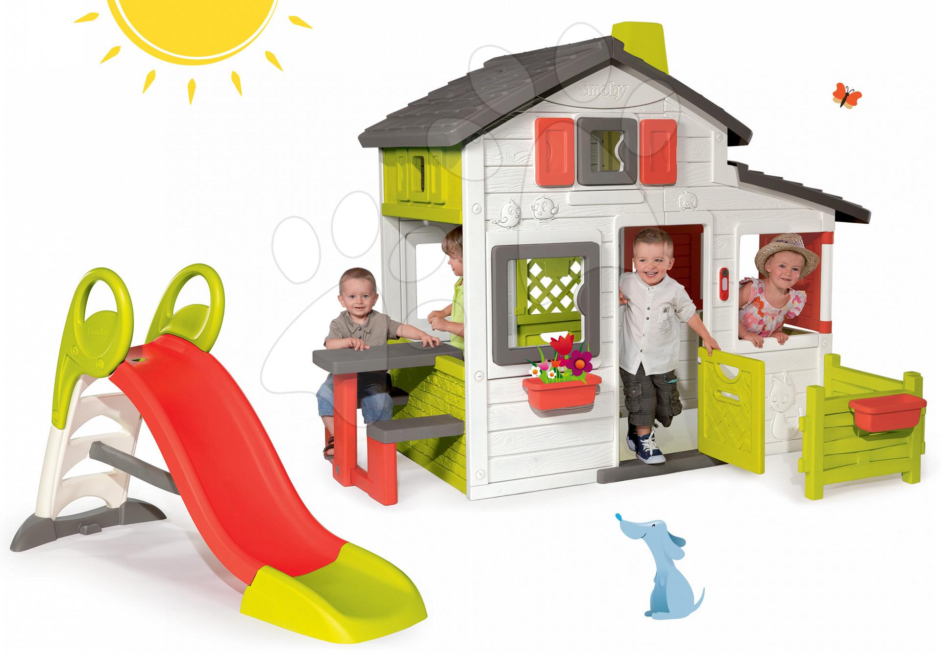 Smoby súprava domček Friends House a šmykľavka Toboggan 310209-3