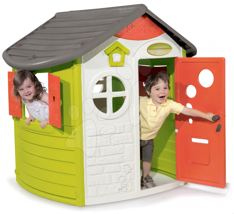 Domčeky pre deti - Domček Jura Lodge Smoby s dvoma dvierkami od 24 mes