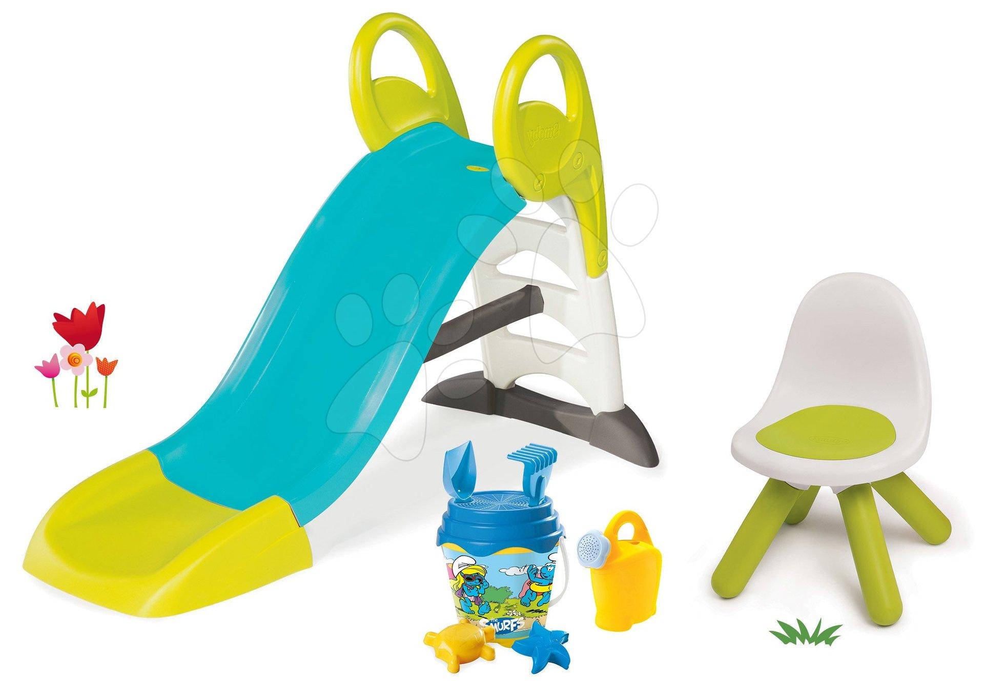 Smoby set šmykľavka pre deti Toboggan KS s vodou a vedro set Dory 310269-1