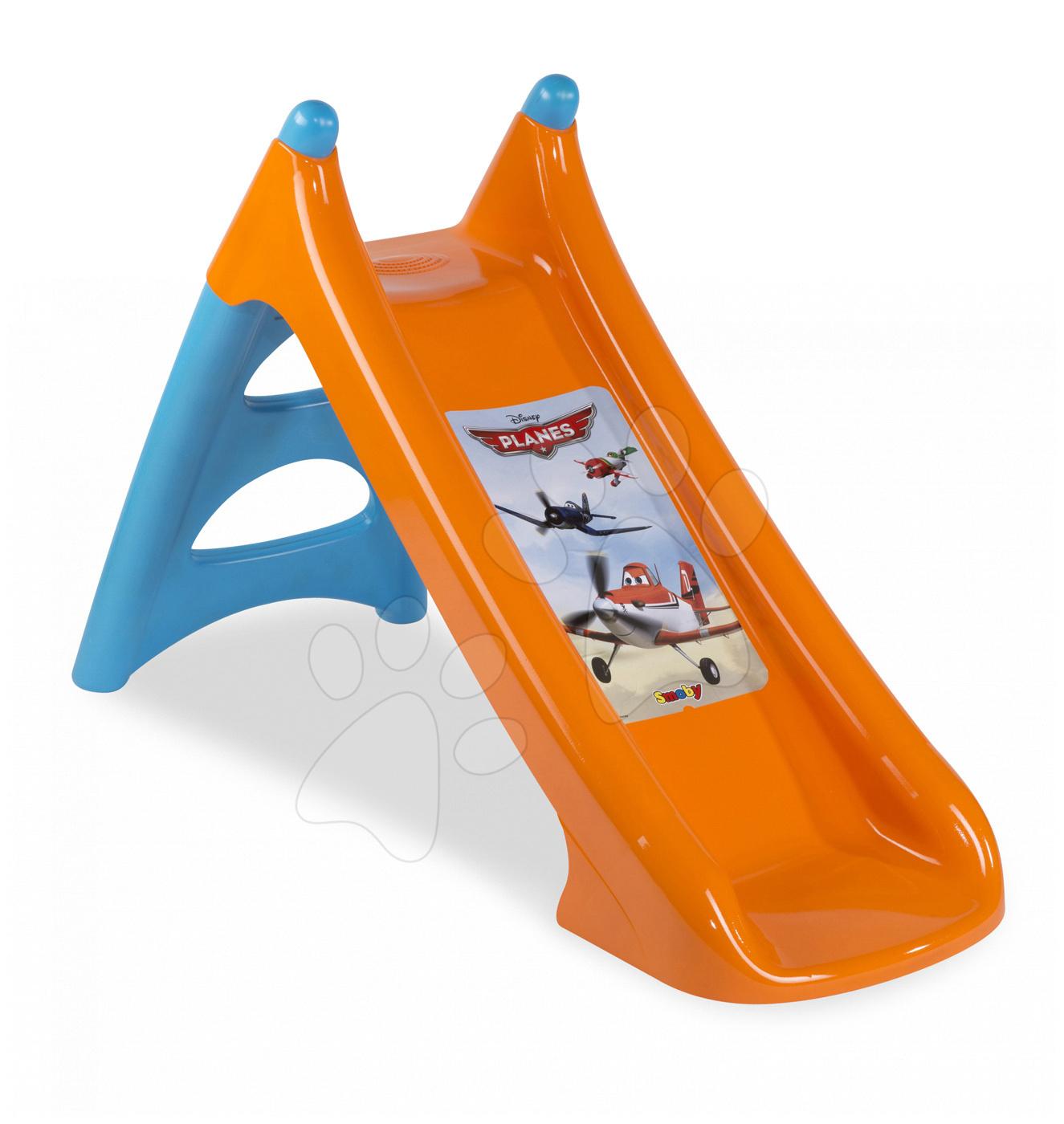 Šmykľavky pre deti  - Šmykľavka Lietadlá Smoby XS Toboggan s vodou dĺžka 90 cm od 24 mes
