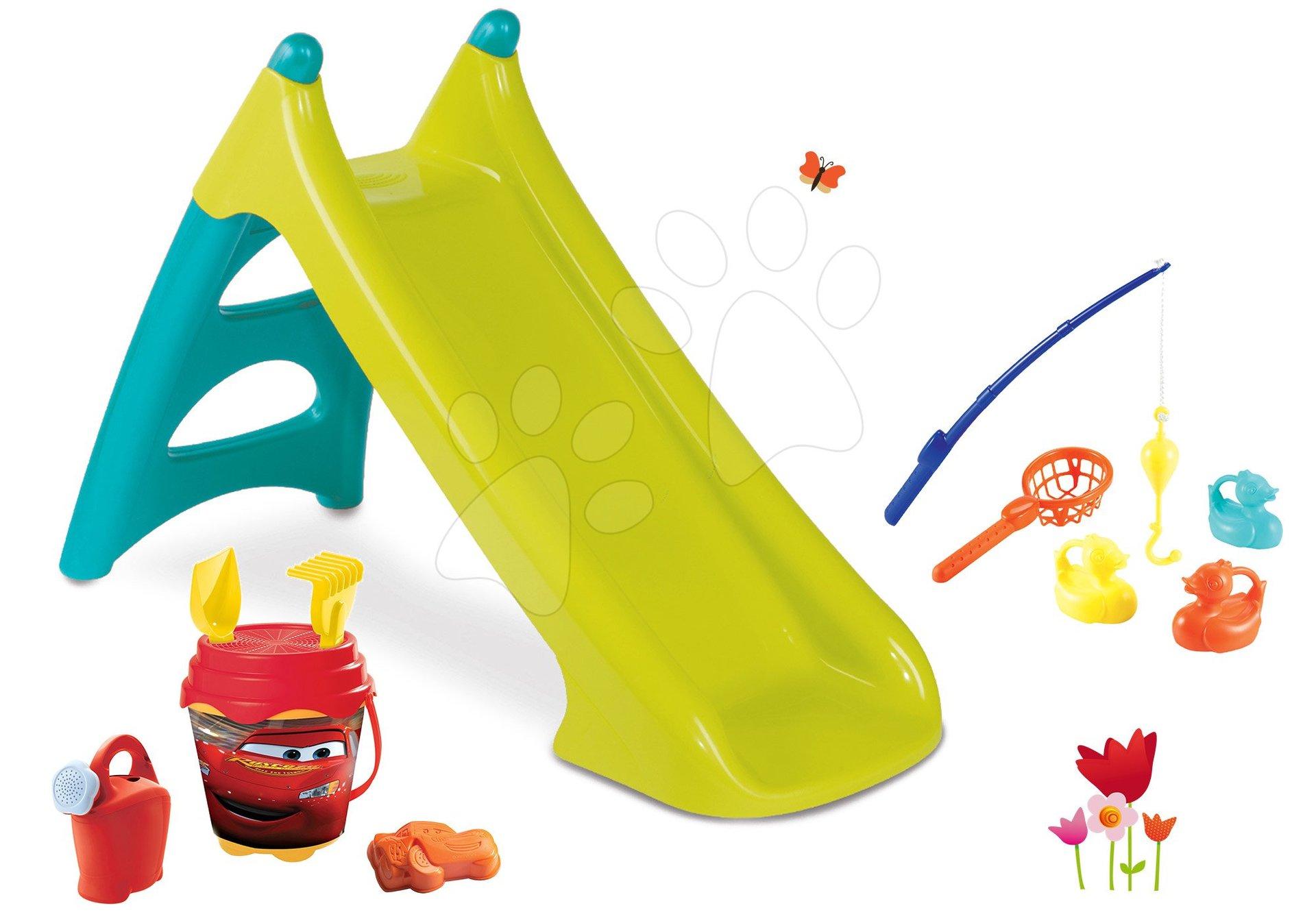 Smoby set šmykľavka pre deti Toboggan XS s vodou a vedro set Hľadá sa Dory 310281-1