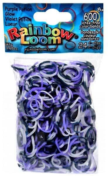Rainbow Loom gumičky trojfarebné - Rainbow Loom originálne gumičky strašidelne svietiace 600 kusov od 6 rokov