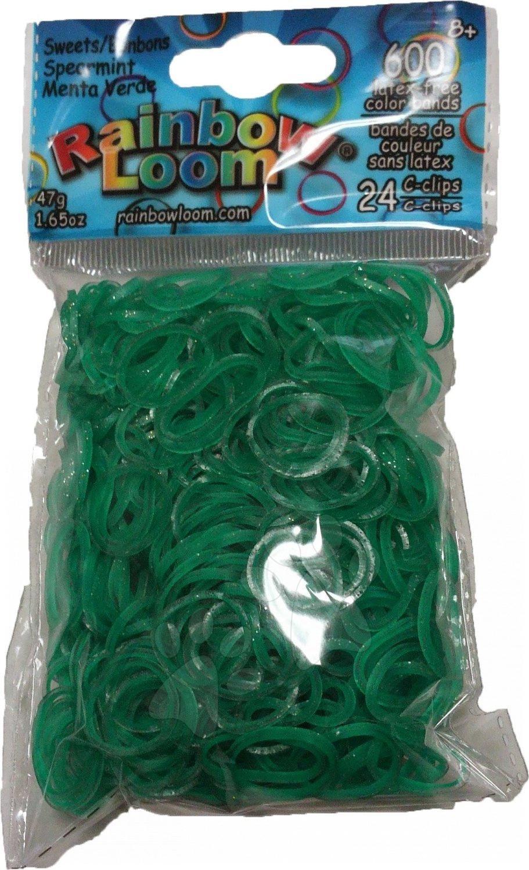 Rainbow Loom gumičky trblietavé - Rainbow Loom originálne trblietavé gumičky 600 kusov tmavozelené od 6 rokov