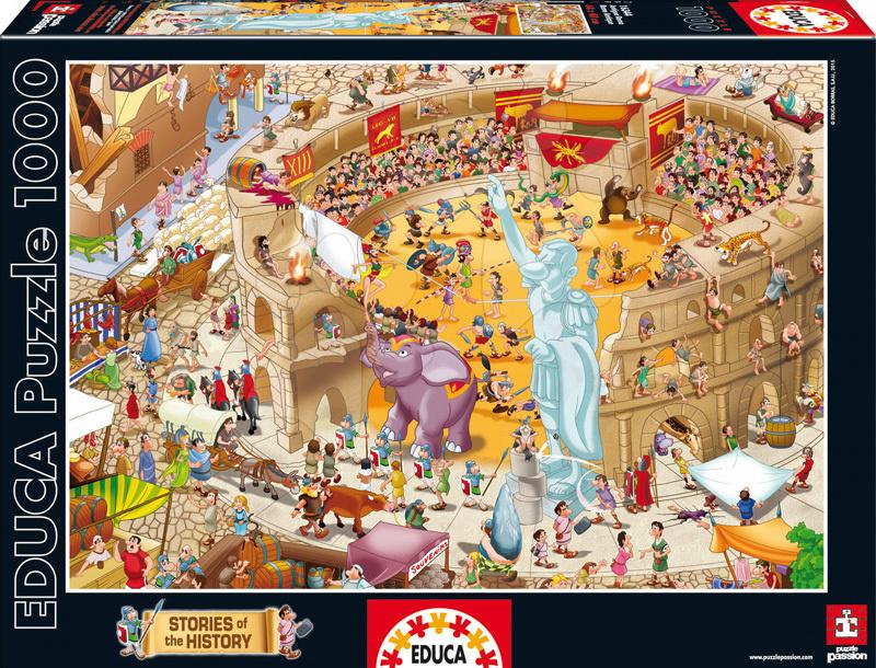 Puzzle 1000 dielne - Puzzle Historias De La Historia Ancient Rome Educa 1000 dielov od 12 rokov