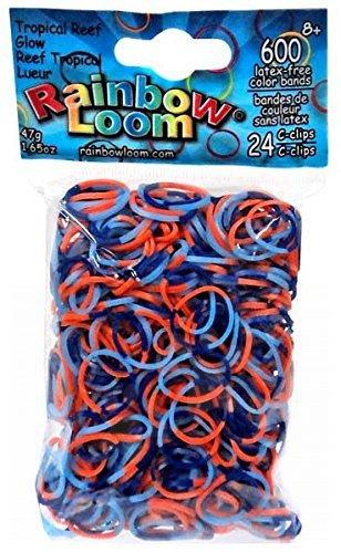 Rainbow Loom gumičky trojfarebné - Rainbow Loom originálne gumičky svietiaci tropický útes 600 kusov od 6 rokov