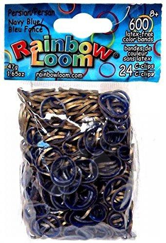 Rainbow Loom eredeti szövőgumik perzsai 600 darab kék/arany 6 évtől