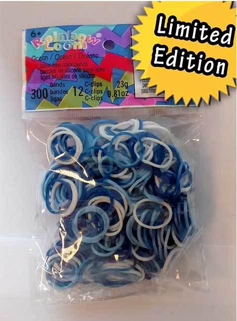 Rainbow Loom gumičky mix - Rainbow Loom originálne gumičky oceán mix 300 kusov od 6 rokov