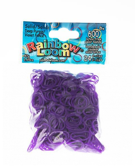 Rainbow Loom originální transparentní gumičky 600 kusů tmavě fialové od 6 let