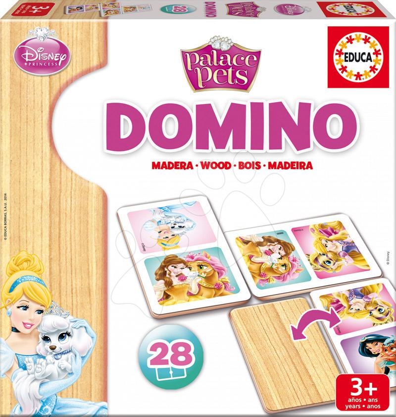 Dřevěné domino Palace Pets Educa 28 ks