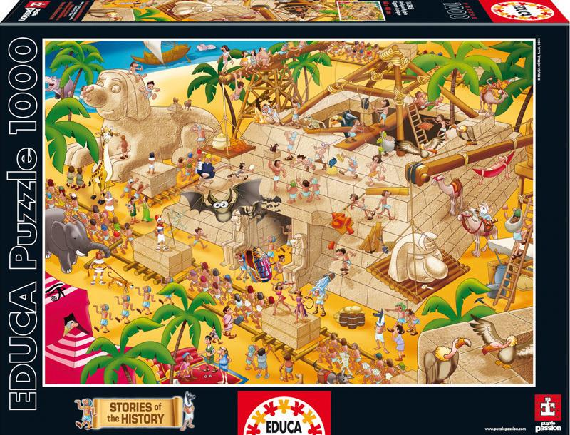 Puzzle Historias De La Historia Ancient Egypt Educa 1000 dílů od 12 let