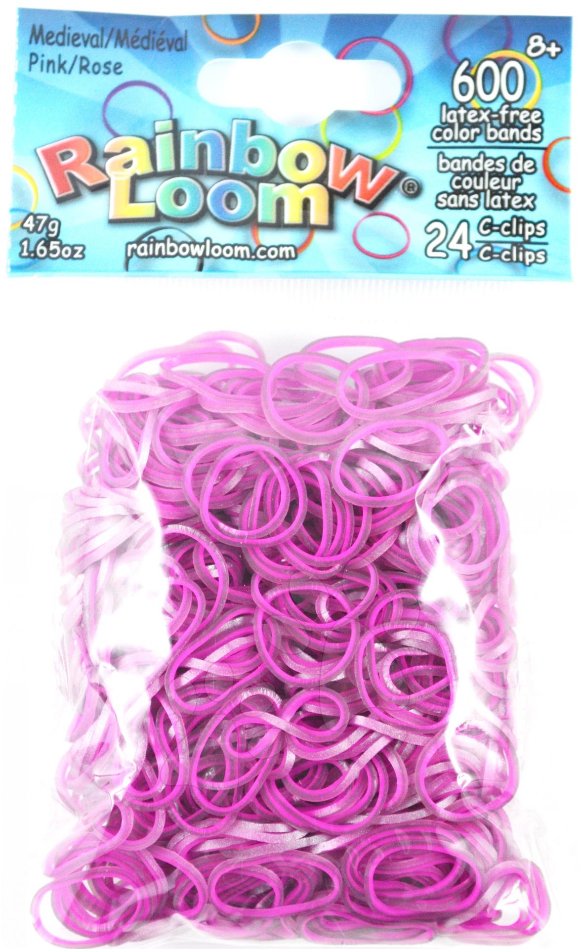 Rainbow Loom gumičky dvojfarebné - Rainbow Loom originálne gumičky stredoveké 600 kusov ružové od 6 rokov