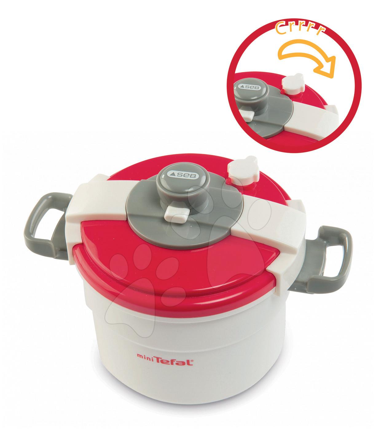 Spotrebiče do kuchynky - Tlakový hrniec Tefal Clipso Smoby s červenou pokrievkou