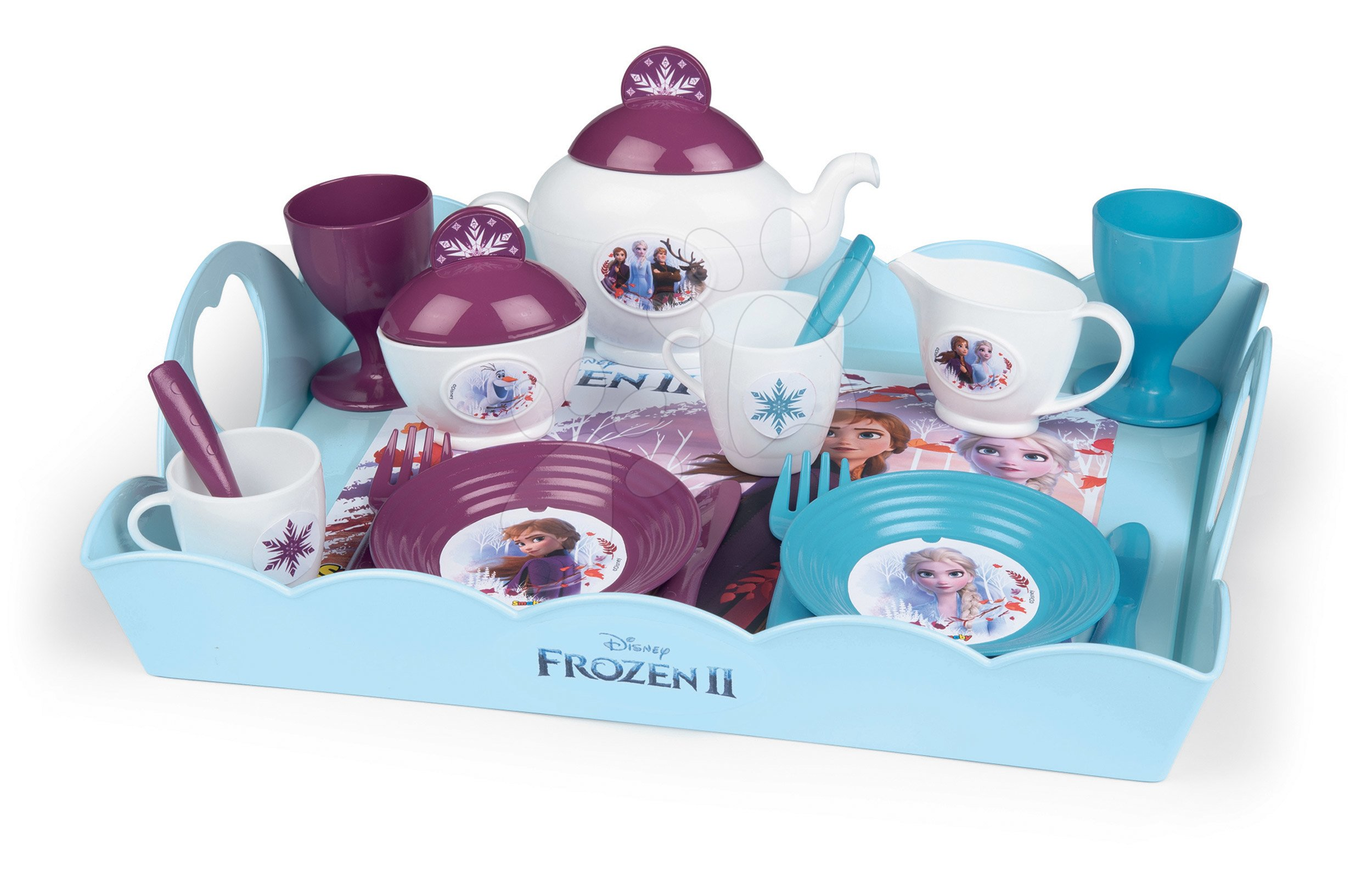Servírovacia tácka Frozen 2 Disney XL Tea Time Smoby so 17 doplnkami