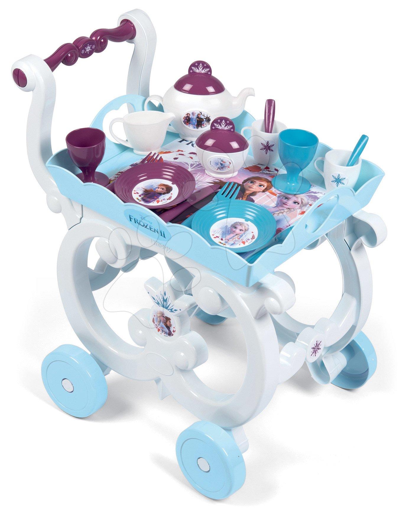 Servírovací vozík Frozen 2 Disney XL Tea Trolley Smoby so 17 doplnkami