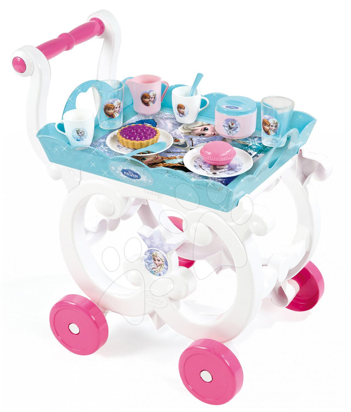 Servírovací vozík Frozen Smoby s čajovou súpravou a 18 doplnkami