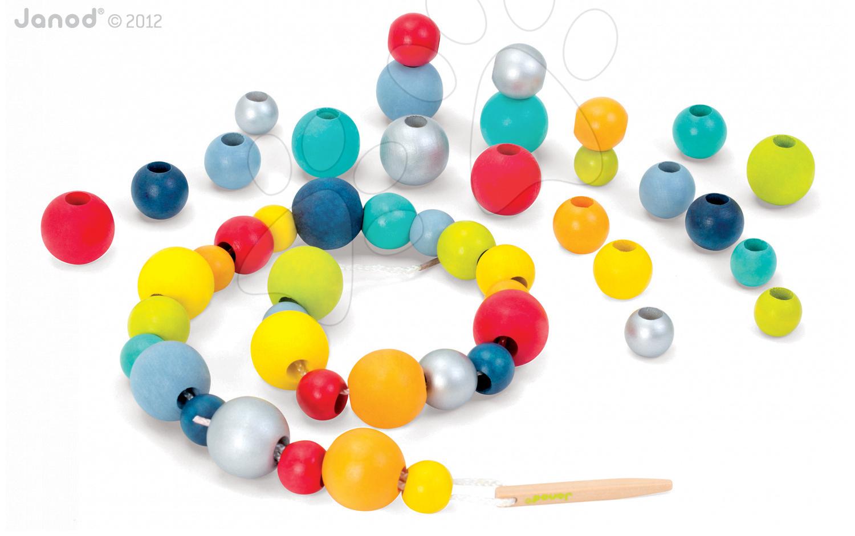 Dřevěné korálky Round Beads Janod
