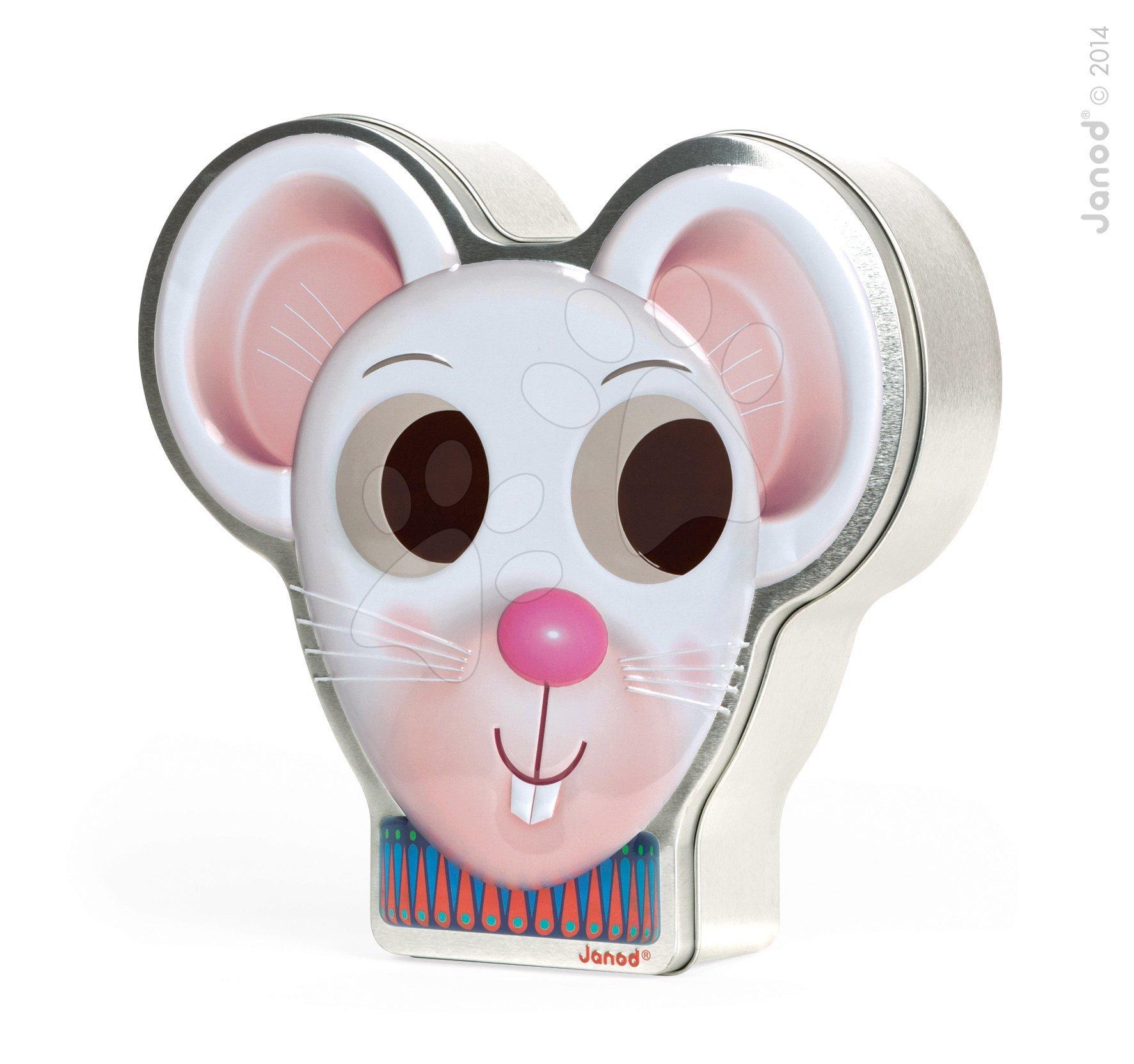 Cudzojazyčné spoločenské hry - Spoločenská hra Zoonimooz Mouse Race Game Janod v angličtine od 3 rokov