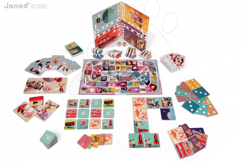 Sada společenských her TourOperator Multi-Games Set Janod v angličtině od 3 let