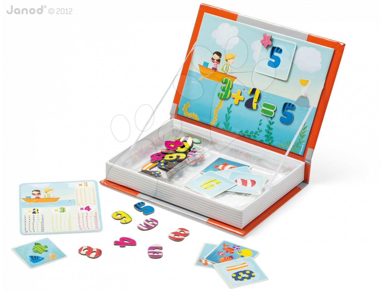 Magnetky pre deti - Magnetická kniha 1, 2, 3 Magneti'Book Janod 10 kariet
