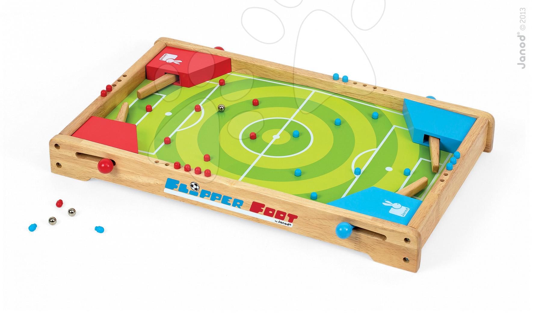 Dřevěný stolní fotbal Footbal Flipper Pinball Janod #VALUE!