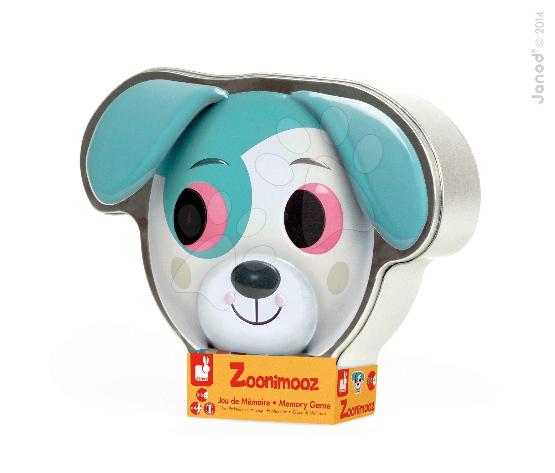 Společenská hra Zoonimooz Dog magnetická Janod v angličtině od 3 let