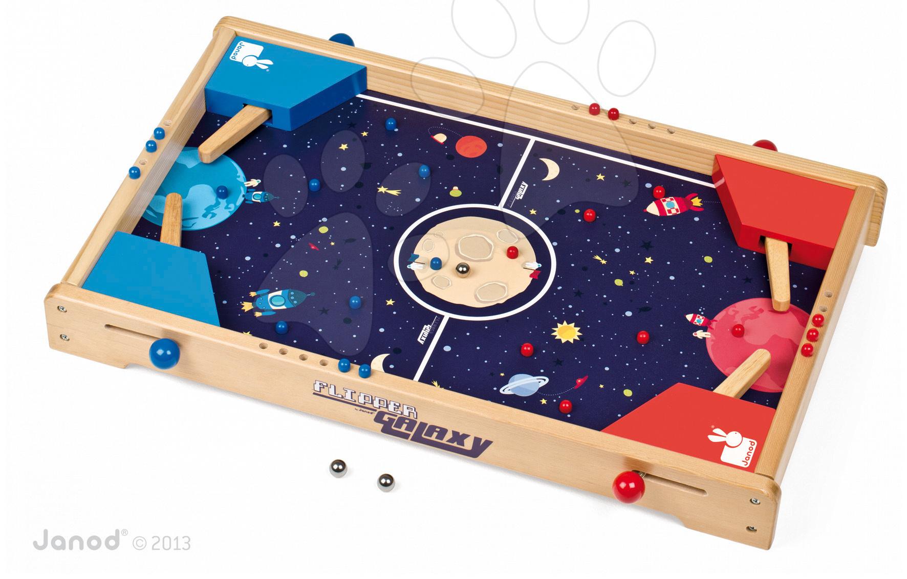 Dřevěný stolní fotbal Galaxy Flipper Pinball Janod #VALUE!