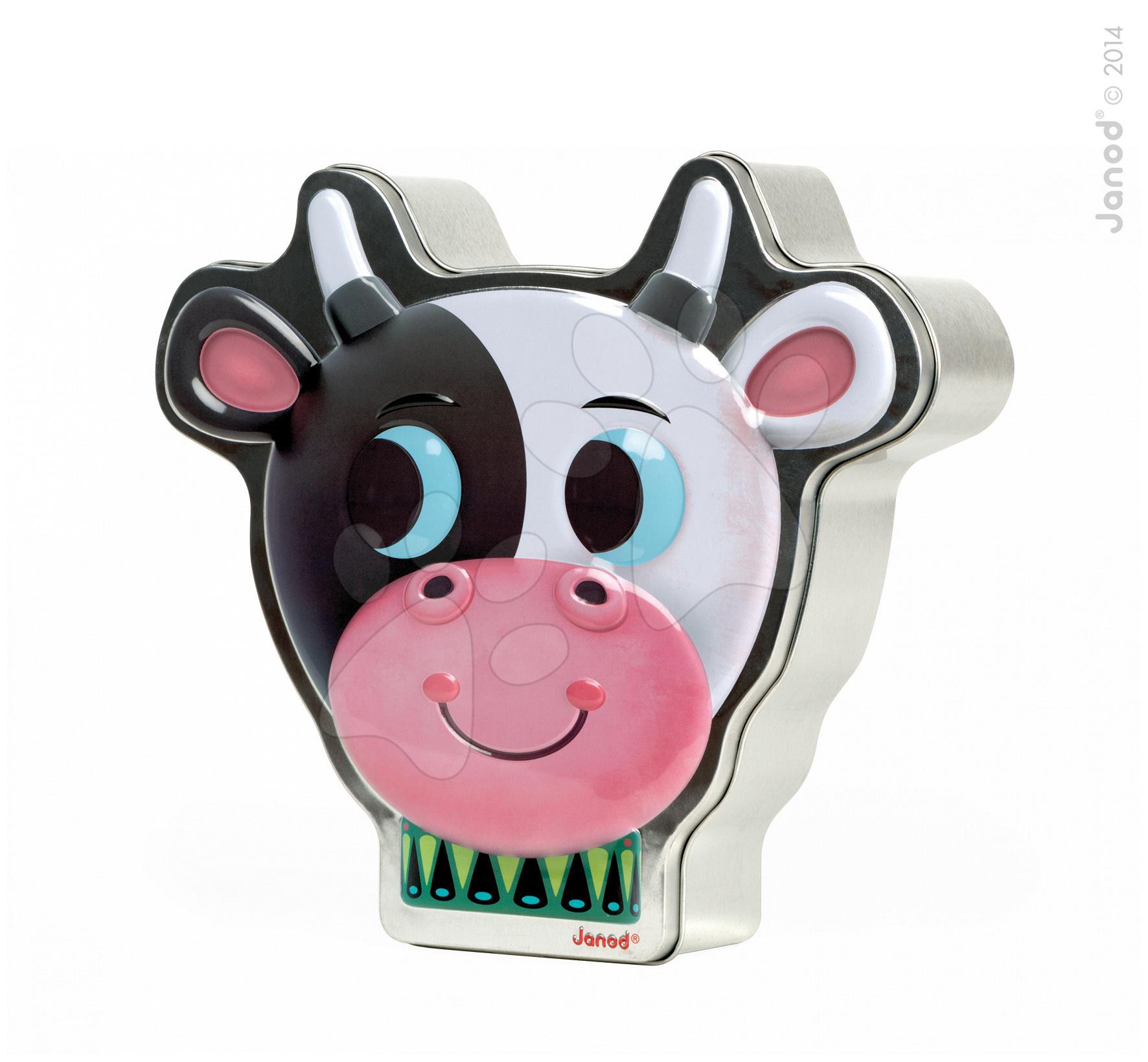 Cudzojazyčné spoločenské hry - Spoločenská hra Zoonimooz Cow Speed Game Janod v angličtine od 4 rokov
